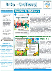 Newsletter septembrie 2018